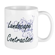 Landscape Contractor Artistic Job Design with Mugs