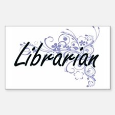 Librarian Artistic Job Design with Flowers Decal