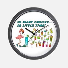 Flamingo Happy Hour Wall Clock