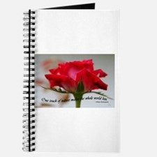 Cute Red rose macro Journal