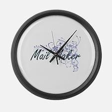Mail Maker Artistic Job Design wi Large Wall Clock
