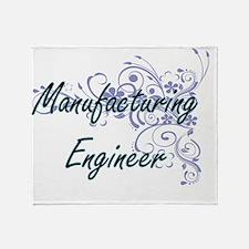Manufacturing Engineer Artistic Job Throw Blanket