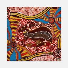 Cute Aboriginal art Queen Duvet