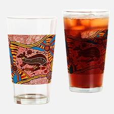Unique Aboriginal Drinking Glass