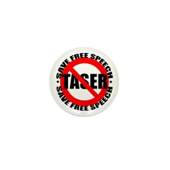 Say No to Tasers Mini Button (10 pack)