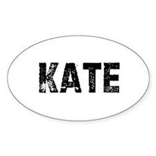 Kate Oval Decal
