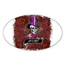 Vintage Skull in a Top Hat Decal