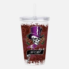 Vintage Skull in a Top Acrylic Double-wall Tumbler