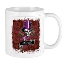 Vintage Skull in a Top Hat Mugs