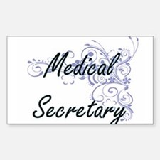 Medical Secretary Artistic Job Design with Decal
