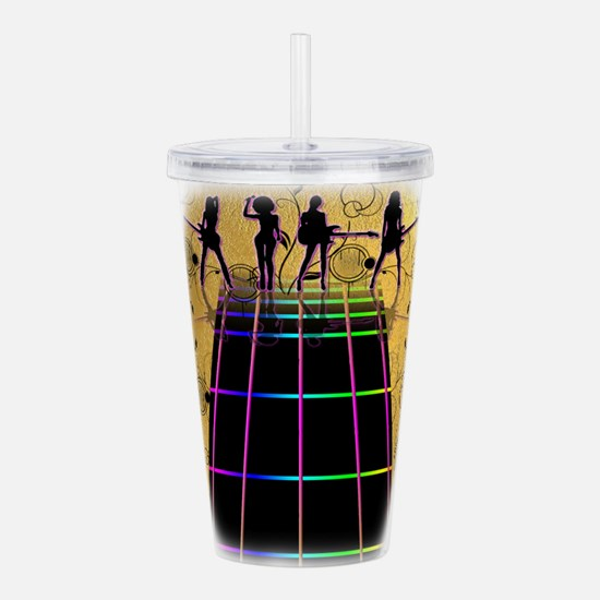 Yellow Brick Fret Guit Acrylic Double-wall Tumbler