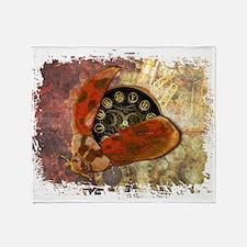 Steampunk Ladybug Throw Blanket