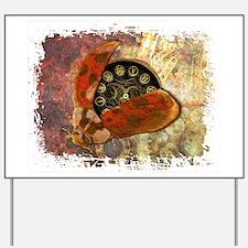 Steampunk Ladybug Yard Sign