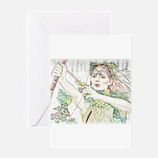 Woodland Warrior Princess Greeting Cards