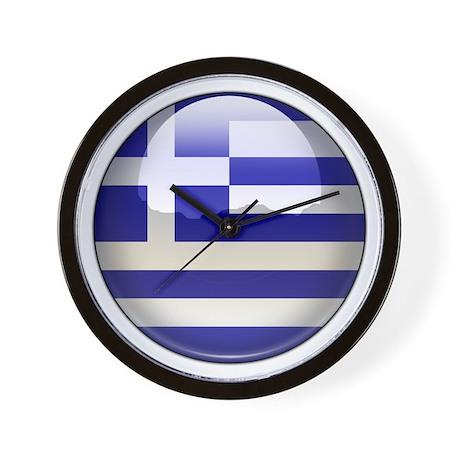 Greece Flag Jewel Wall Clock