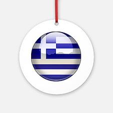 Greece Flag Jewel Ornament (Round)