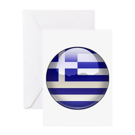 Greece Flag Jewel Greeting Card