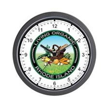 Living Organic Rhode Island Wall Clock