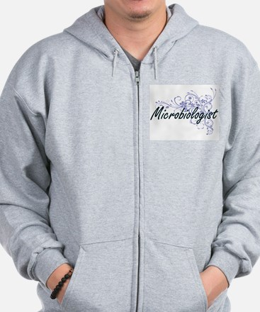 Microbiologist Artistic Job Design with Zip Hoodie