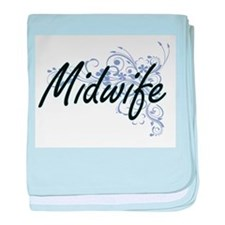 Midwife Artistic Job Design with Flow baby blanket