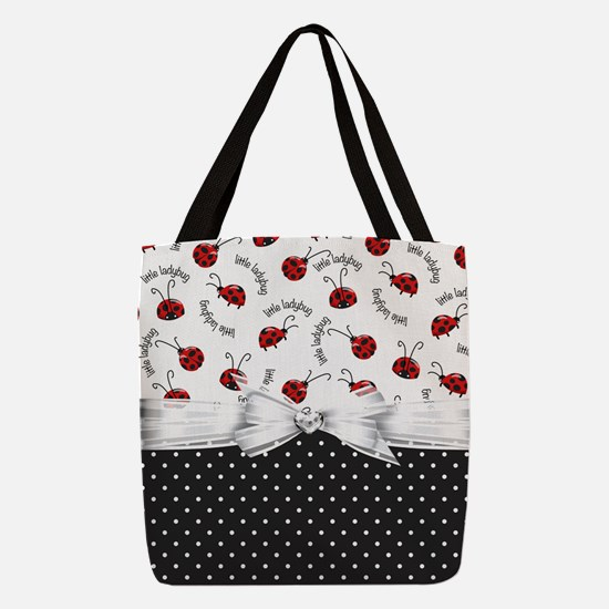 Little Ladybugs Polyester Tote Bag