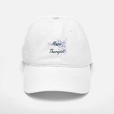 Music Therapist Artistic Job Design with Flowe Baseball Baseball Cap