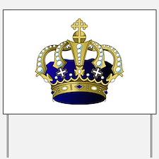 Blue & Gold Royal Crown Yard Sign