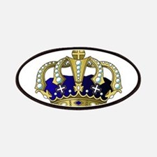 Blue & Gold Royal Crown Patch