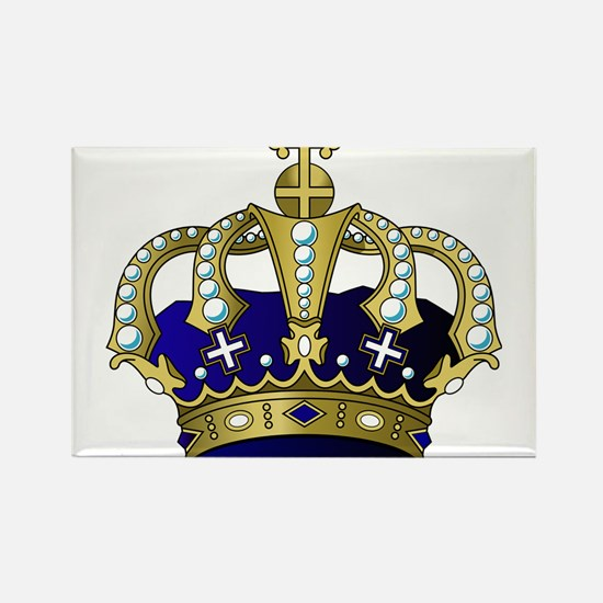 Blue & Gold Royal Crown Magnets