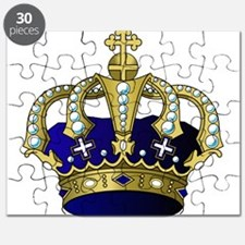 Blue & Gold Royal Crown Puzzle