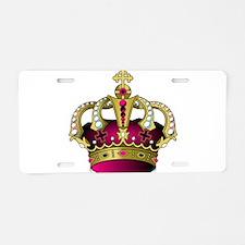 Cute Gold cross Aluminum License Plate