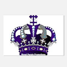 Purple Royal Crown Postcards (Package of 8)