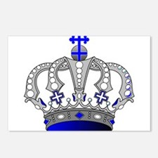 Silver & Blue Royal Crown Postcards (Package of 8)