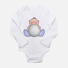 Cute Sport golf Long Sleeve Infant Bodysuit