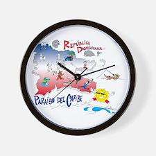 Quisqueya t-shirts Wall Clock