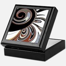 Decorative Swirl Design in Black, Bro Keepsake Box