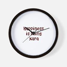 happiness is being Xara Wall Clock