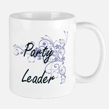 Party Leader Artistic Job Design with Flowers Mugs