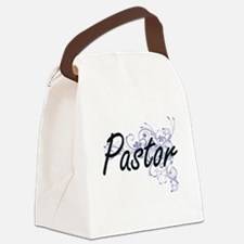 Pastor Artistic Job Design with F Canvas Lunch Bag