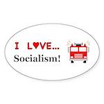 I Love Socialism Sticker (Oval 50 pk)