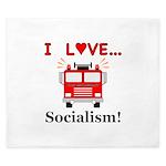 I Love Socialism King Duvet