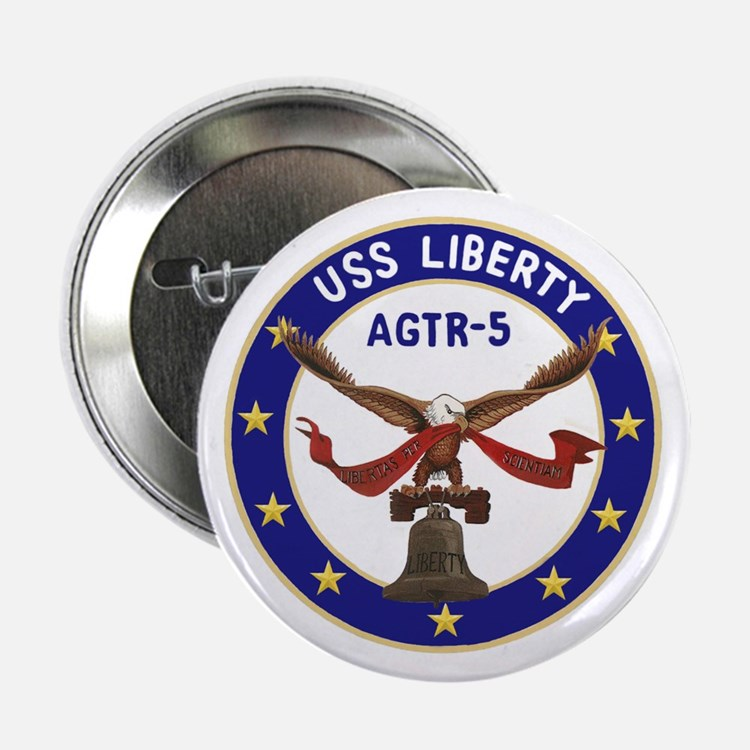 "USS Liberty (AGTR 5) 2.25"" Button (10 pack)"