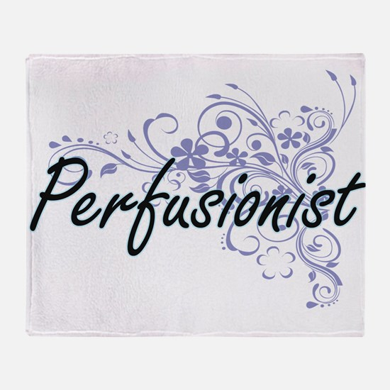 Perfusionist Artistic Job Design wit Throw Blanket