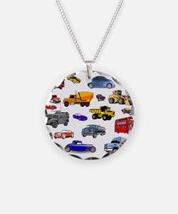 Cars and Trucks Necklace