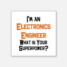 "electronics engineer Square Sticker 3"" x 3"""