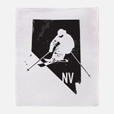 Ski Nevada Throw Blanket