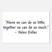 """Helen Keller 'Together' Quote"" Postcards (Package"