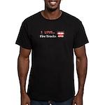 I Love Fire Trucks Men's Fitted T-Shirt (dark)