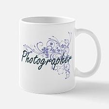 Photographer Artistic Job Design with Flowers Mugs