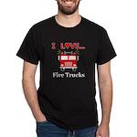 I Love Fire Trucks Dark T-Shirt